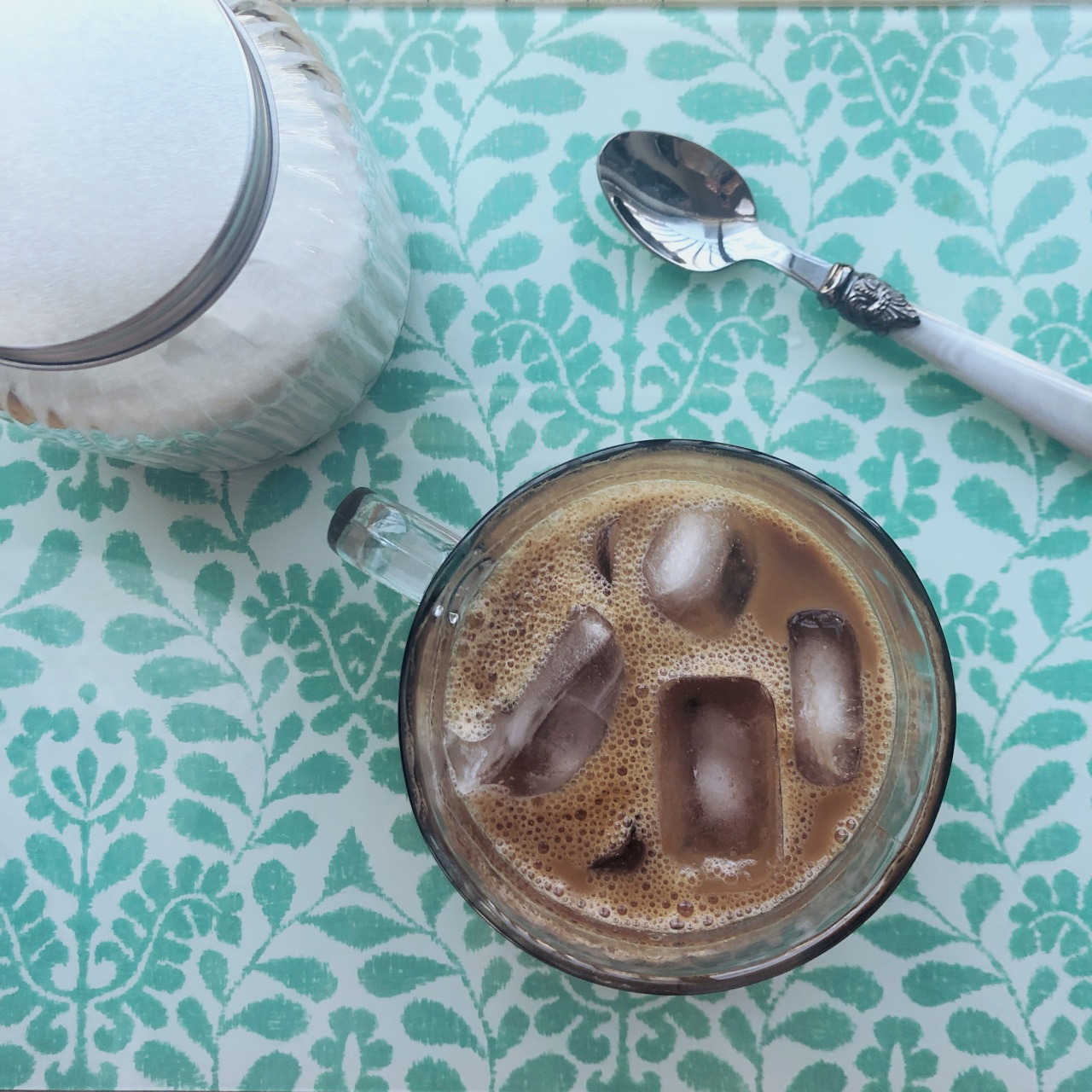 coffee, breakfast, iced coffee, spring, summer, drinks, blogger, home cook , food blog